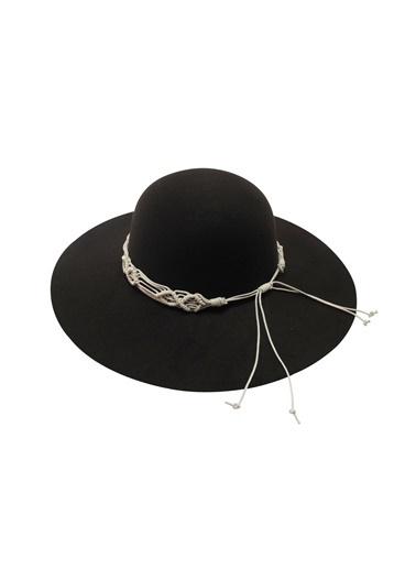 Laslusa İçten Ayarlanabilir Geniş Kenar Keçe Şapka Kahve